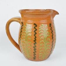 Alter Krug Tonkrug Bauernkrug Braun Steinzeug Keramik Hafnerware German Pottery