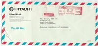 Japan 1985 machine cancel air mail stamps cover ref 21569