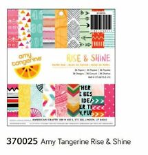 "American Crafts 6"" x 6"" Paper Pad ~ AMY TANGERINE ~ RISE & SHINE ~ 36ct  ~370025"