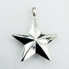 Silver pendant 925 Sterling Silver Five Pointed Star pendant size 46mmx 50mm