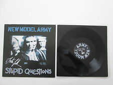 """NEW MODEL ARMY STUPID QUESTIONS 12"""" POSTER SIGNED BY JUSTIN SULLIVAN 12NMAP7"""