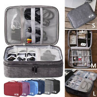 S/M/L Travel Storage Bag USB Charger Data Cable Electronics Organizer Waterproof