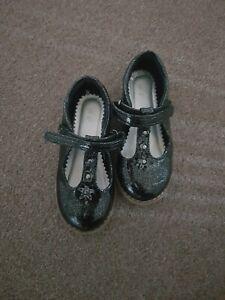 Tu black patent sparkly girls shoes 8
