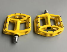 Magnesium Road MTB Mountain XC AM Bike Cycling Pedals flat Bicycle Pedal Yellow