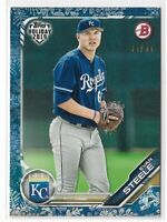 2019 Topps Bowman Holiday white snow parallel Evan Steele 39/50 Kansas City