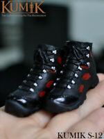 1//6 VSTOYS 19XG43 Female Zipper Boots Shoes Model Fit 12/'/' Action Figure Doll
