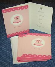 American Greetings 20 Baby Girl Birth Announcements & Envelopes ~ It's A GIRL!