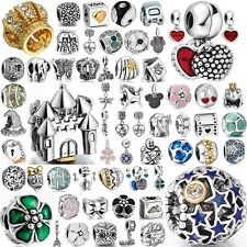 New European Charms Crystal Space Beads Fit  925 Sterling Silver Bracelets Chain