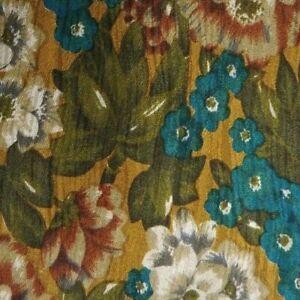 Green Blue Floral FENDI Silk Tie