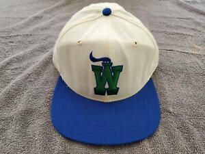 1987-94 White Charleston Wheelers New Era Snapback Hat - Team Issued - GU? (622)