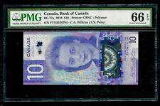 Canada 2018 - $10 Viola Desmond PMG Gem UNC 66 EPQ