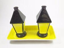 Vintage Carltonware Carlton Ware lantern lamp light cruet set salt pepper 2764