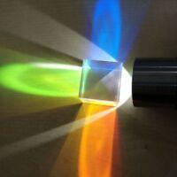 Defective Optical Glass Dichroic Color Prism X Cube DIY Light Science Survey 2pc
