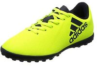 Adidas X 17.4 TF Junior Kids Astro Football Soccer Shoes Trainers Yellow
