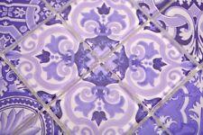 Mosaïque carreau translucide rétro violet italie cuisine 68-Retro-I_b | 1 plaque