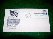 Vintage Stamp 1970 Washington DC 6c Flag Stamp First Day of Issue