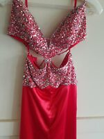 Night Moves Red Cut Out Gown Size 2