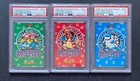 Pokemon PSA 5 Charizard Blastoise Venusaur Trainer Carddass Vending Japanese