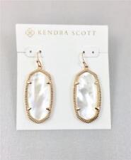 New Kendra Scott Elle Ivory Pearl Rose Gold tone Earrings