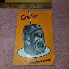 Genuine CIRO-FLEX Instruction Manual - 1946 Parts Films Loading Camera -FreeSHIP
