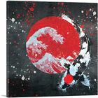 ARTCANVAS Ying Yang Koi Carp Fish Japan Flag Kohaku  Canvas Art Print