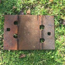 Old Railway Dog Spike Rail Mounting Plate, Decorative, Rustic, Coat Rack