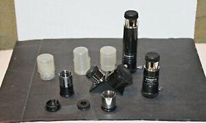 Lot of Tasco Telescope Lens & Eyepieces 3X & 2X  Barlow,  HM 25mm & SR 4mm