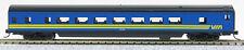 N Smooth Side Passenger Coach Car Via Rail (Blue & yellow) (1-40045)