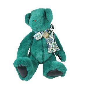 Vintage Victorias Secret Gund Plush Teddy Bear Green Teal 1992 Stuffed Animal
