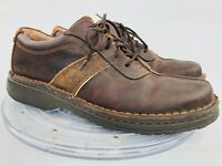 Clarks Men's 8 M Antique Brown Leather Two-Toned Casual Lace Up Oxfords 30347