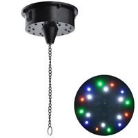 "6RPM RGBW Light Rotating Motor 18LEDs For Mirror Disco Ball 6"" 8"" 12"" DJ Party"