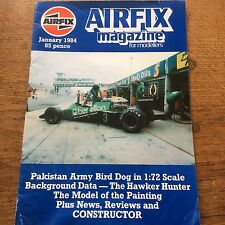 Airfix Magazine for modellers Jan 1984 Pakistan Army Bird 1:72 & Hawker Hunter