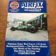 Airfix Magazine for modellers Jan 1984 Pakistan Army Bird 1:72 & Hawker Hunter