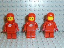 LEGO® Space Classic 3x Figur Astronaut rot mit Airtank 1968 918 6930 6929 K467