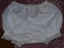 Baby Girls Panties Nappy Cover - White, Ivory, Pink, Floral - Sizes NB, 1, 2