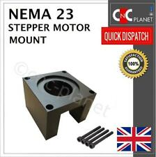 Nema 23 Stepper Motor Mount 57mm Aluminum Bracket + Screw Black base CNC UK FAST