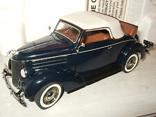 Rare & Superb Danbury Mint 1936 Ford Deluxe Cabriolet Diecast in 1:24 Scale.