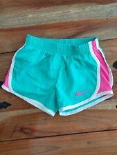Girls Toddler Aqua Blue Nike Dri-fit Athletic Exercise Shorts Size 2t Euc