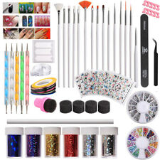 Nail Sticker Decal Dotting Pen Nails Gem Sponges Manicure Tool Painting Brush r