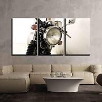 "Wall26 - Vintage Motorcycle Detail - Canvas Art Wall Decor - 24""x36""x3 Panels"