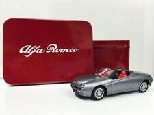 Nice  1/43 Alfa Romeo Spider Gray 1995 Gift Set Solido Tin Box Oulins France