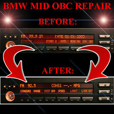 BMW E38 740 740il RADIO STEREO DISPLAY MID OBC - LCD Screen Display Pixel REPAIR