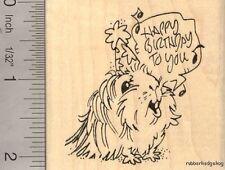 Birthday Guinea Pig Rubber Stamp H14210 WM