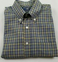 Bills Khakis Men's Button Down Plaid Shirt Long Sleeve Made In The U.S.A Size L