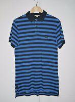 Vintage Burberry Brit Strip Crashed Style Polo Shirt sz M USED