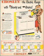 1949 Vintage ad for CROSLEY `The Electric Range Art retro appliance  (061016)
