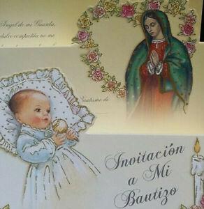 Invitaciones,A Mi Bautizo(Spanish Baptism Christening invitations)FavorsParty