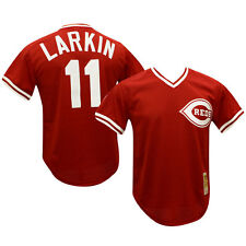 Barry Larkin 1990 Cincinnati Reds Authentic Mesh BP Jersey 56/3XL