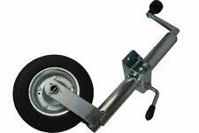 Round 48mm Jockey Wheel Bracket Stand Wind up Trailer Caravan Heavy Duty 150kg