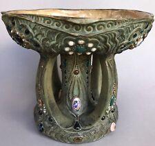 Jugendstil Keramik  Schale Amphora Werke Rießner Stellmacher Kessel Turn Teplitz